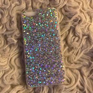 iPhone case halo graphic glitter vinyl iPhone 5 6